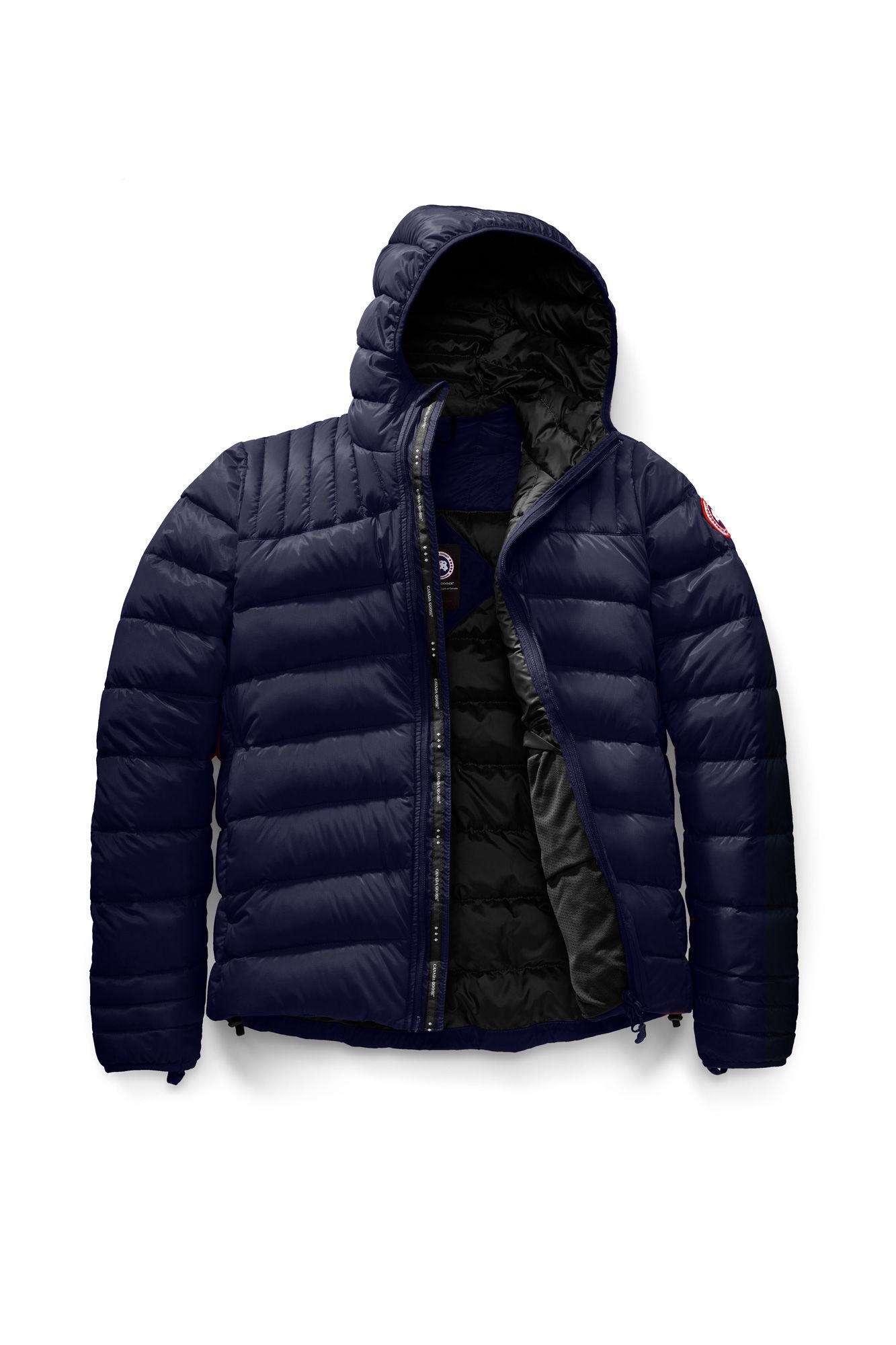 7facbcead Top Designer Qualities Deep Sea Blue/Black Canada Goose Lightweight Down  Jackets Brookvale Hoody Canada Goose Chilliwack Black Friday 5501M